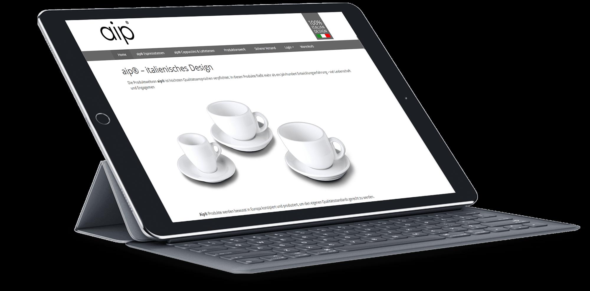 Brandcrock-aip-italiensches design ipad