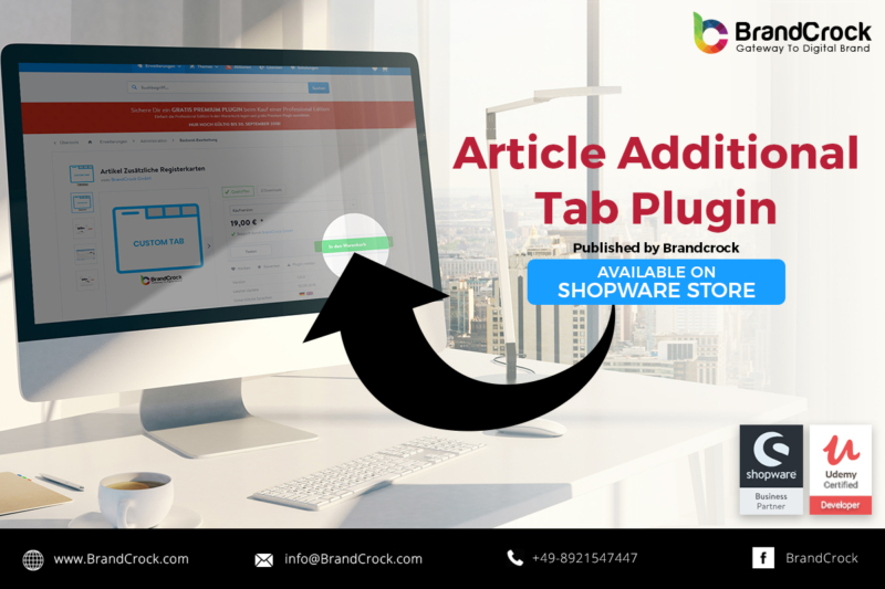 Shopware Plugin Article Additional tab