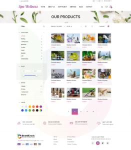 Brandcrock Wellness Theme Product Page