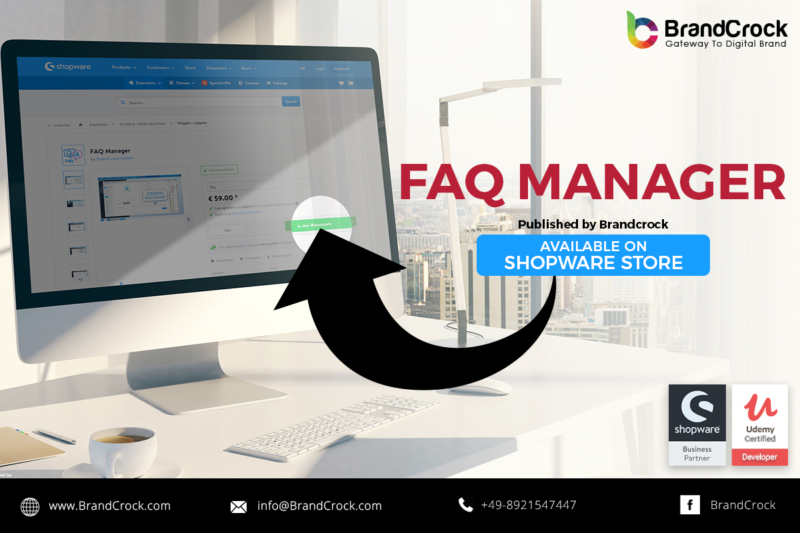 Shopware plugin FAQ Manager