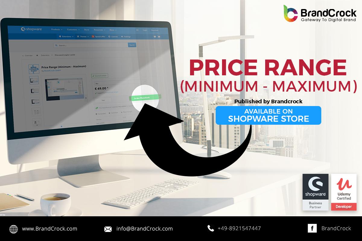 Minimum Gmbh shopware plugin price range (minimum - maximum) - brandcrock gmbh