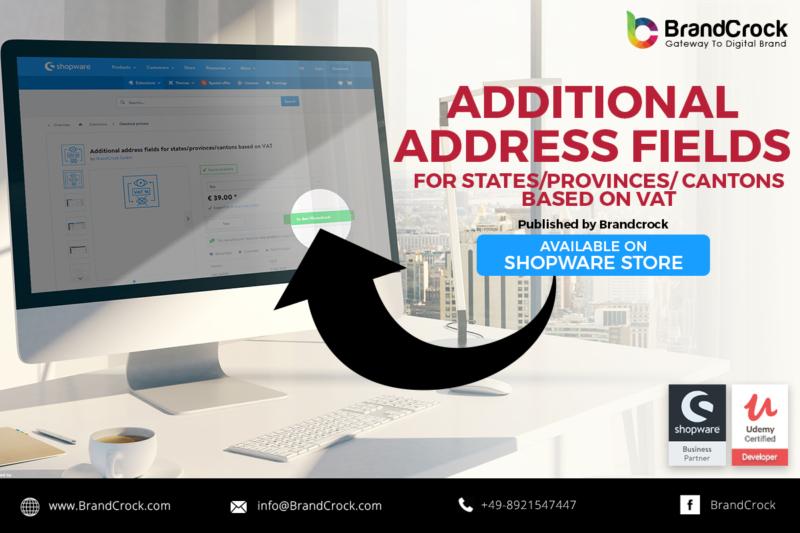 Shopware Plugin Champ d'adresse supplémentaire basé sur la VAT