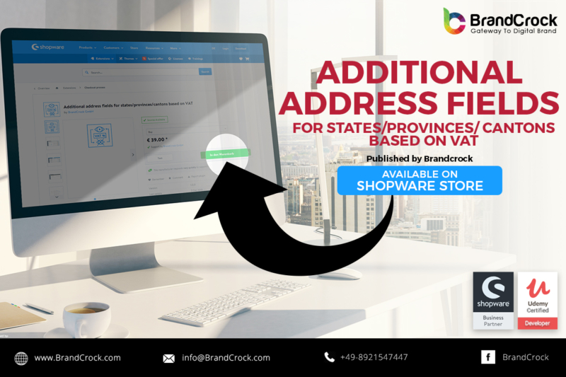 shopware plugin Extra adresveld op basis van btw