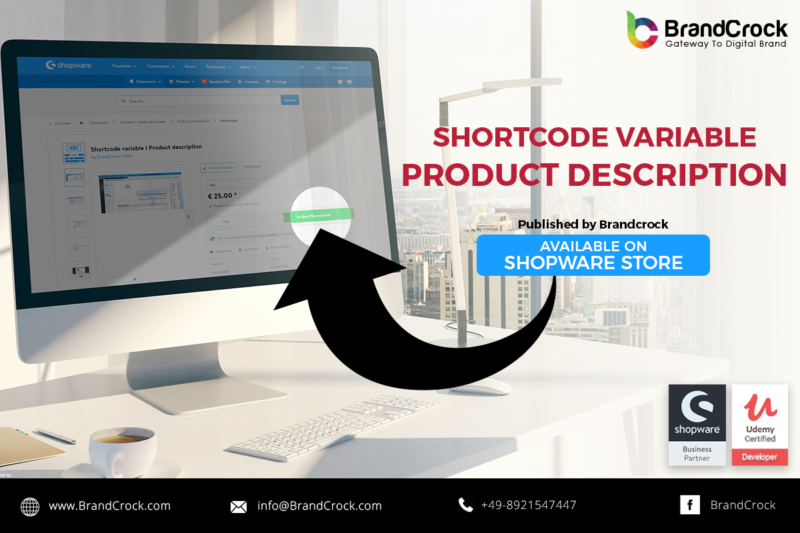 Shopware Plugin Code court variable Description du produit