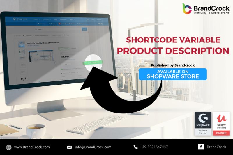 Shopware Plugin Variabile del codice di abbreviazione Descrizione del prodotto
