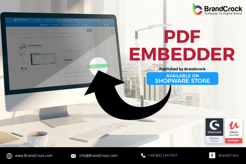 Shopware Plugin PDF Embedder TAB with Responsive