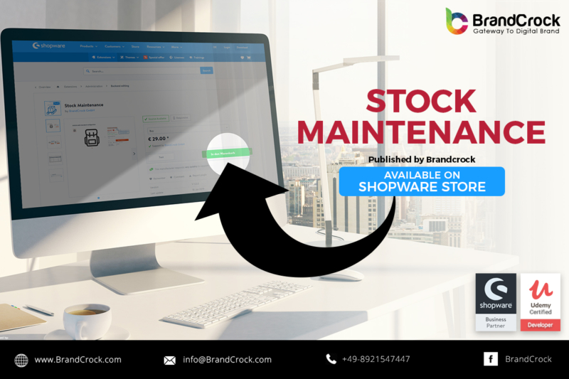 Shopware Plugin Stock Maintenance