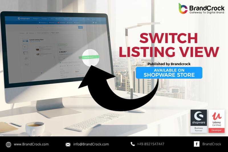 Shopware Plugin Cambio di visualizzazione dell'elenco  di Shopware consente di visualizzare in modo diverso la pagina dell'elenco dei prodotti. È possibile selezionare una diversa visualizzazione dell'elenco facendo clic sulle icone, disponibili accanto al menu a discesa del filtro.