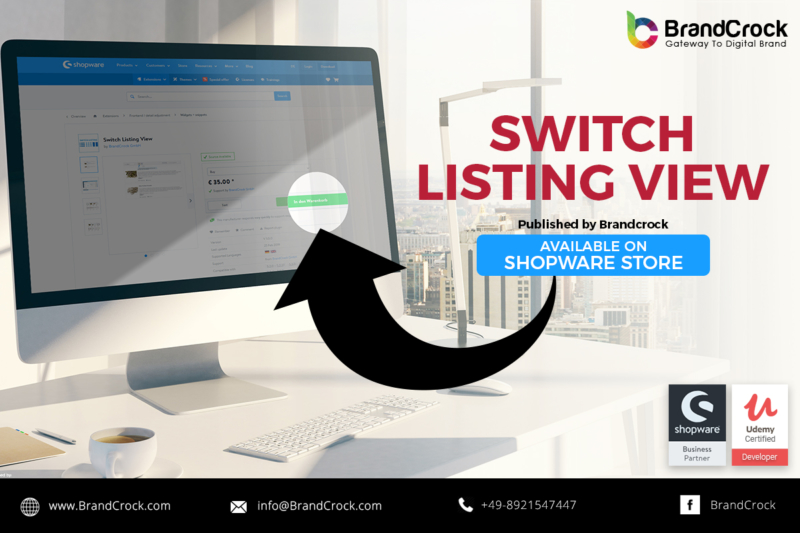 Shopware Plugin Switch Listing View