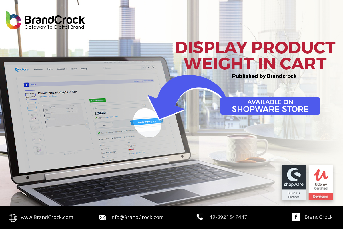 Shopware 6 plugin Display Product Weight In Cart