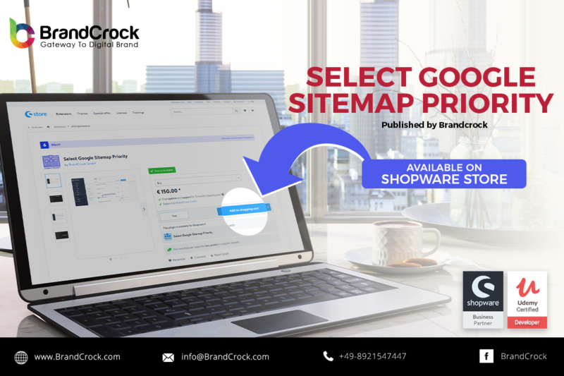 Shopware 6 Plugin Select Google Sitemap Priority